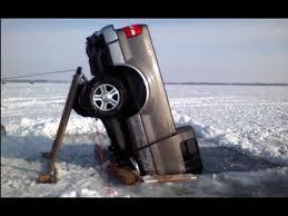 truck stuck in ice